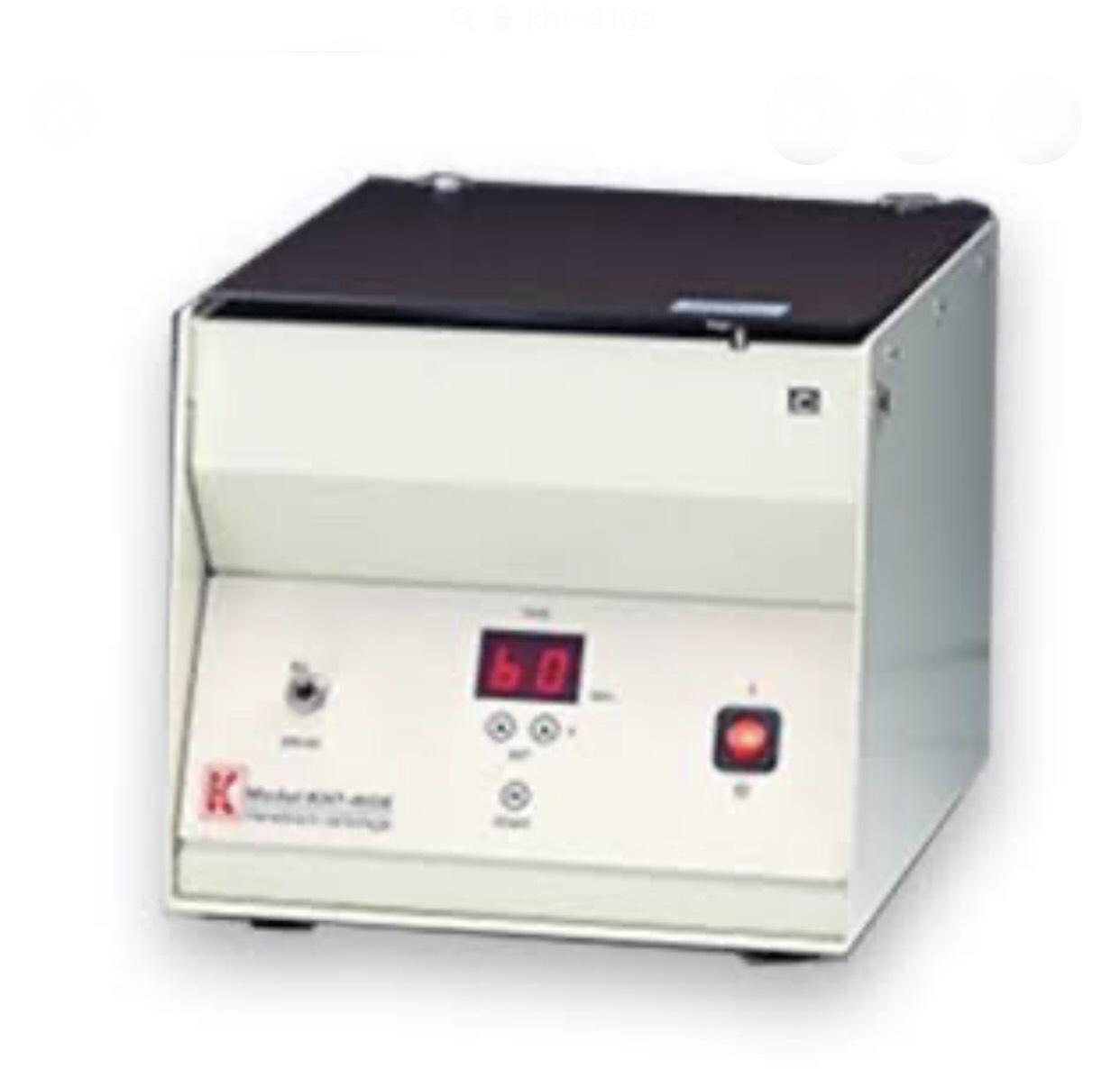 เครื่องหมุนเหวี่ยงเพื่อตรวจปริมาตรเม็ดเลือดแดงอัดแน่น (Hematocrit Centrifuge) รุ่น KHT-410E(b)